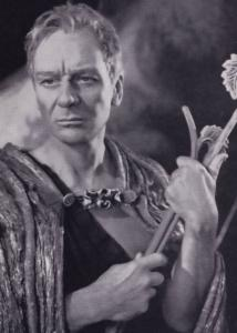 John Gielgud as Prospero Rare Shakespeare Theatre Company Postcard