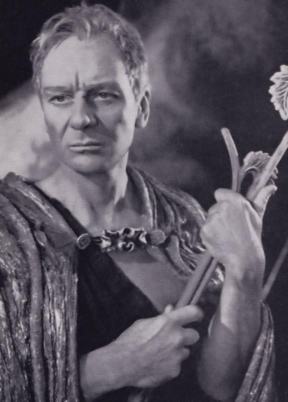 John Gielgud as Prospero Rare Shakespeare Theatre Company Postcard