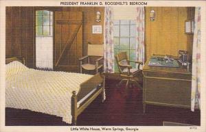 Georgia Warm Springs The Little White House President Roosevelt's Bedroom Int...