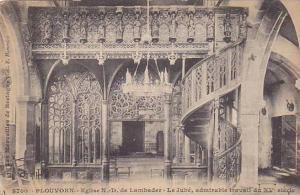 Interior, Eglise N.-D. De Lambader, Le Jube, Admirable Travail Du XV Siecle, ...