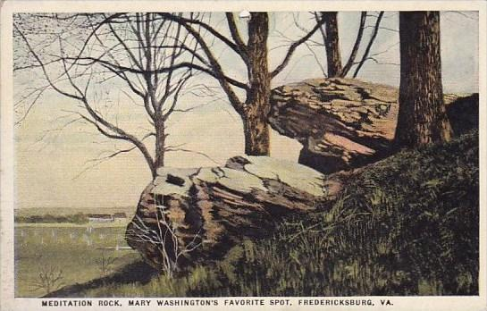 Virginia Fredericksburg Meditation Rock Mary Washington's Favorite Spot