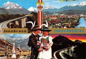 Innsbruck Europabruecke Maria Theresienstrasse Bruecke Bridge Road River