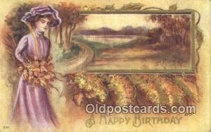 Artist Reynolds, Frank Postcard, Post Card Old Vintage Antique A Happy Birthd...