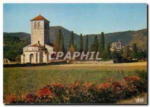 Postcard Moderne Saint Bertrand de Comminges Haute Garonne The Romanesque chu...
