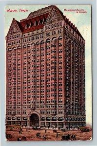 Chicago IL-Illinois, Masonic Temple, Highest Building, Vintage c1912 Postcard