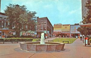 Birthplace of Atlanta GA Park Plaza Storefronts Fountain Postcard