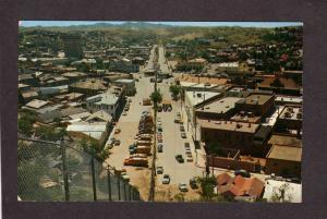AZ Fence Nogales Arizona Mexico Sanora Postcard Mexican International Boundary