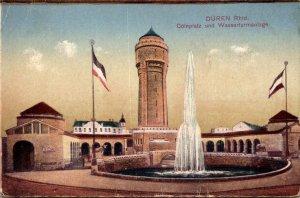 Germany Dueren Coelnplatz und Wasserturmanlage