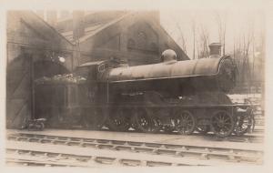 LNWR 4-6-0 Class No 5472 Richard Moon Antique Real Photo Train Postcard