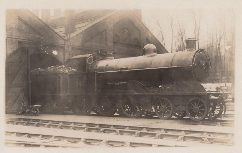 LNWR 4-6-0 Class No 5472 Richard Moon Antique Real Photo Train Postcard