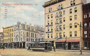 LPS62 Richmond Virginia Murphey's Hotel Postcard Trolley