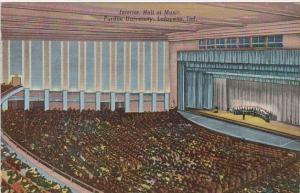 Indiana Lafayette Hall Of Music Interior Purdue University 1947  Curteich