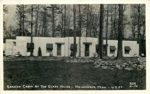 Helenwood Tennessee~Spanish Cabin at the Glass House~1940s Real Photo~RPPC