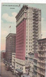 Illinois Chicago City Hall Square Building 1914