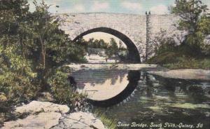 Illinois Quincy Stone Bridge In South Park Curteich