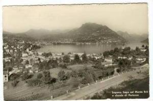 RP Lugano. Lago col Monte Bre e sfondo di Porlezza,PU 1957