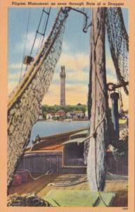 Massachusetts Provincetown Pilgrim Monument As Seen From Nets Of A Dragger
