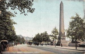London Thames Embankment Cleopatra's Needle obelisk Monument Carriages 1906