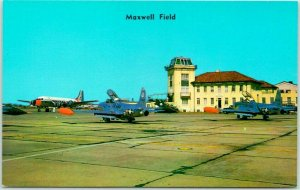 Montgomery, Alabama Postcard MAXWELL FIELD Air Force Base AFB c1950s Chrome