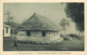 Polynesian island in the Pacific Ocean Wallis Island LANO natives house
