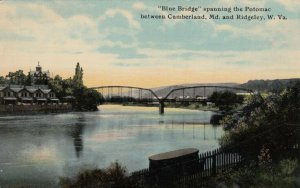 Blue Bridge spanning Potomac between CUMBERLAND, MD & RIDGELEY, WV, 1900-10s