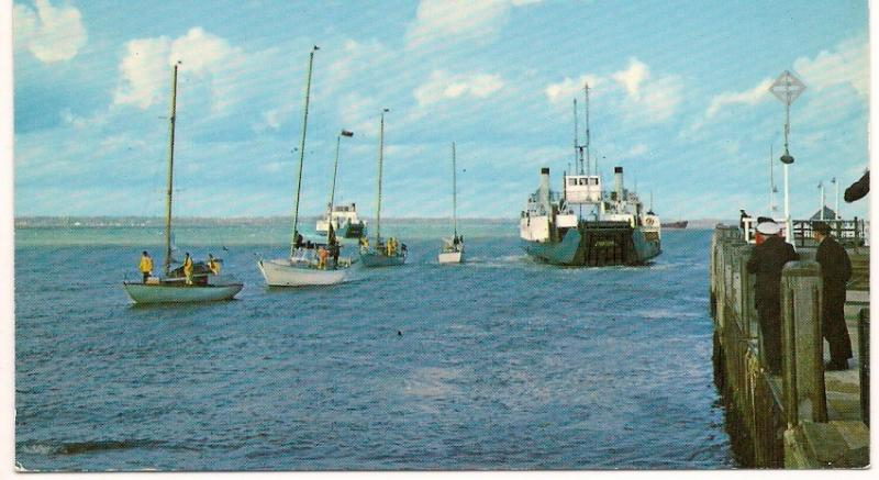 The Ferry - Yarmouth - Isle of Wight - Post Card - Unused