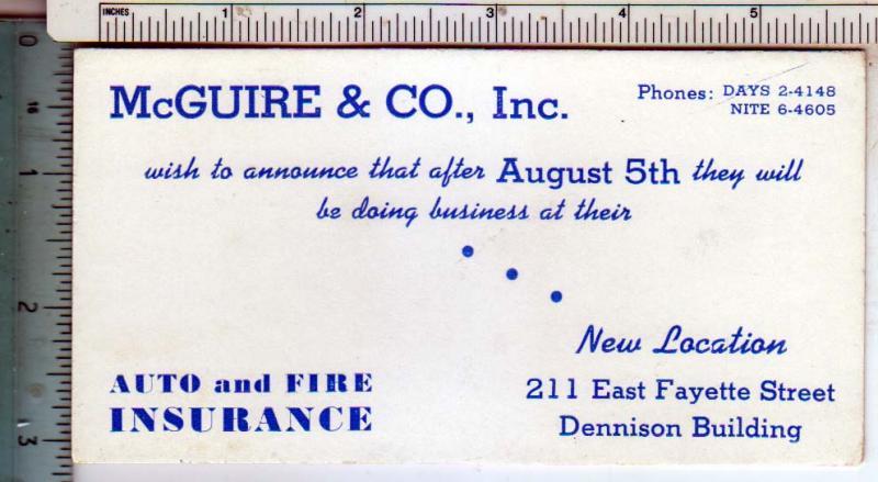 McGuire & Co. Inc. Insurancce