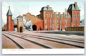 St Albans Vermont~Train Depot~Tanker Tower (Shortly Gone* ) 2nd Empire 1905 PC