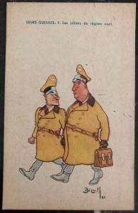 Mint Belgium Picture Postcard WW2 Pillars Of The Nazi Party