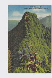 VINTAGE POSTCARD NATIONAL STATE PARK GREAT SMOKY MOUNTAINS CHIMNEY TOPS #1