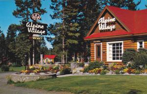 Exterior and Welcome Sign, Garden, of Apline Village, Jasper National Park, A...