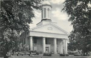 New London MO~Historic Ralls County Court House~Nice Belfry~1950 B&W