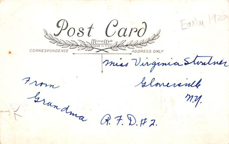 Valentines Day Post Card Old Vintage Antique Postcard Whitney Made writing on...
