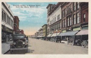 SAULTE STE. MARIE , Michigan , 1910s ; Business section on Ashmun Street