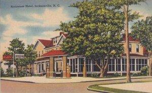 North Carolina Jacksonville Riverview Hotel Albertype