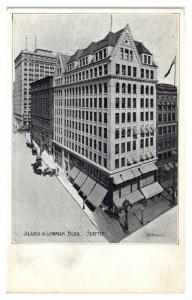Early 1900s Alaska & Lowman Building, Seattle, WA Postcard *5N2