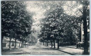 CUMBERLAND, Maryland  MD    WASHINGTON STREET Scene   1908  Postcard