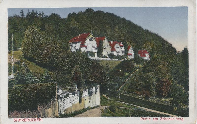 Saarbruken, Partie am Schenkelberg, Germany, early postcard, Unused