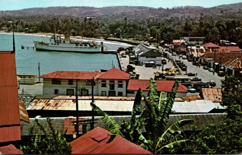 Greetings From Tobago Showing Harbor