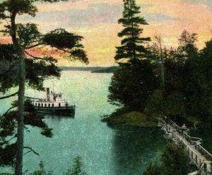 On Lake Joseph Muskoka Lakes G.F.R. System Ontario Canada 1910s Vtg Postcard