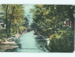 Divided-back LAKE SCENE Clear Lake - Near Mason City Iowa IA AE5114