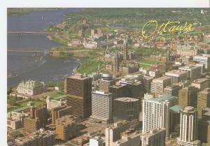Postal 043934 : Ottawa Ontario. An aerial view of Parlament Hill