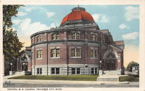 Traverse City Michigan~Central Methodist Episcopal Church~1921 Orson W Peck Pc