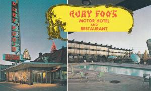 2-Views, Ruby Foo' Motor Hotel & Restaurant, Swimming Pool, Montreal, Quebec,