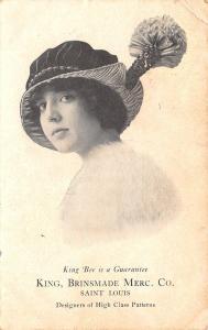 Nelson MO King-Brinsmade Mercantile Adv~Lovely Lady w/Bonbon Hat 1920s