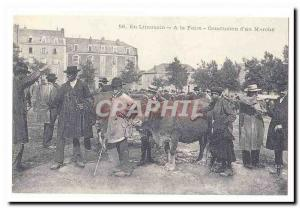 Limousin Old Postcard At the fair Conclusion d & # 39un walking (reproduction)