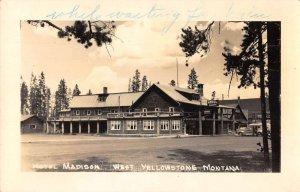 West Yellowstone Montana Hotel Madison Real Photo Vintage Postcard AA37884