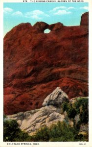 Colorado Colorado Springs Garden Of The Gods The Kissing Camels Curteich