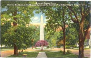 Green Street & Monument to the Georgia Signers of the Declaration of Independenc