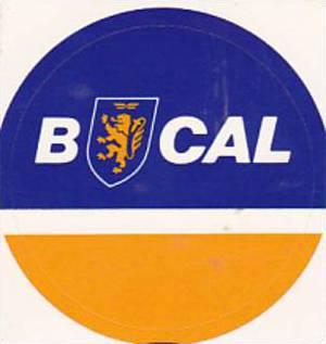 BCAL CALEDONIAN AIRWAYS VINTAGE AVIATION LABEL